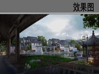 新中式美丽乡村景观效果图 JPG