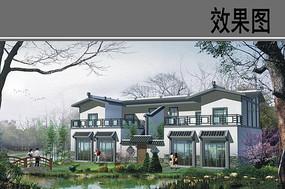 新中式农家院效果图 JPG