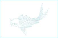 鲫鱼雕刻图案