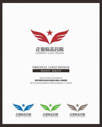 展翅飞翔鹰企业标志设计