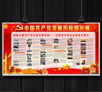 中国共产党发展历程宣传栏