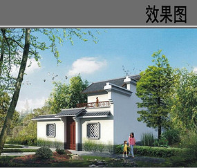 中式农村别墅设计效果图