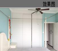 中西结合简易小卧室