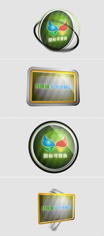 2款logo标志展示ae模板