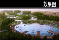 滨河景观水上游乐段鸟瞰图