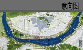 滨江绿地景观设计平面图