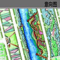 滨水景观台地平面图