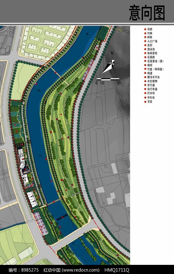 滨水生态景观设计平面图图片