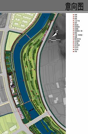 滨水生态景观设计平面图