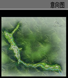 滨水乡村规划设计平面图