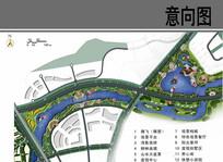 滨水养生休闲区景观平面图