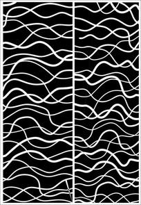 波浪线雕刻图案