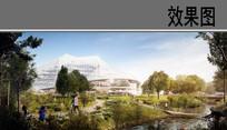 产业园区滨水景观效果图