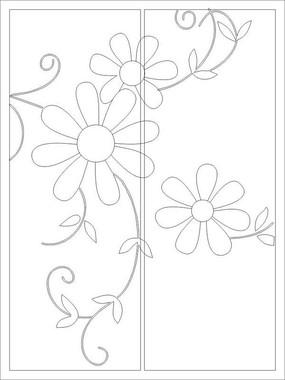 抽象太阳花雕刻图案