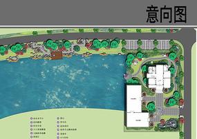 村庄滨水景观设计平面图