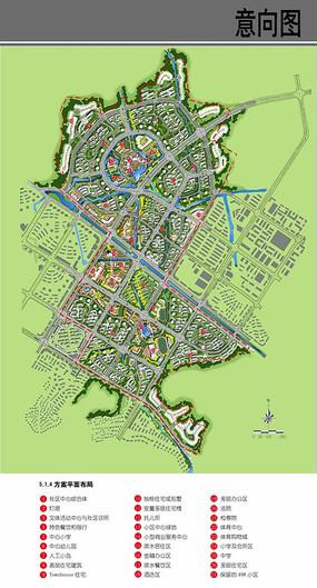 村庄规划布局方案平面图