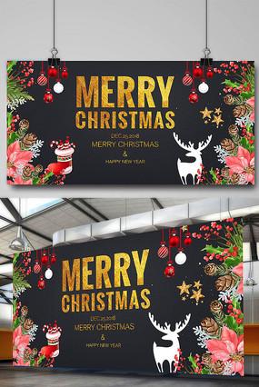 大气圣诞节海报 PSD