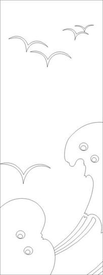 大雁怎么画简笔画