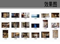 东南亚风格卧室装修透视图