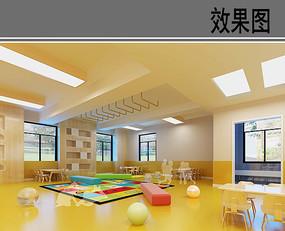 儿童活动教室设计效果图