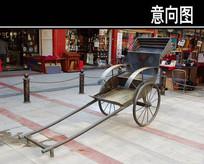 古代三轮车雕塑小品