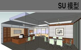 古典风办公室模型