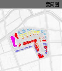 古镇规划设计功能分析图