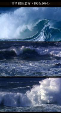 海浪冲击特写视频视频素材