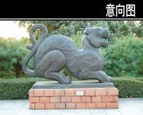 虎节雕塑小品