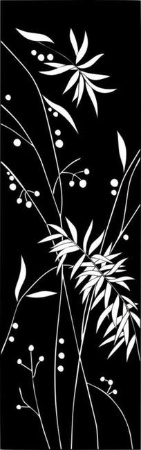 金麦叶雕刻图案