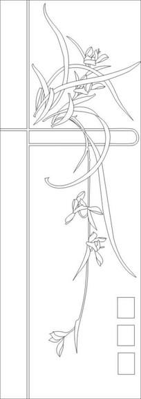 兰花飘香雕刻图案 CDR