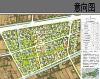 民族乡村住宅片区方案平面图