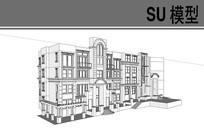 欧式建筑模型