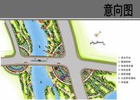 桥头景观设计平面图