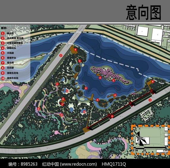 亲水生态景观设计平面图片