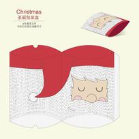 圣诞节圣诞老人简易趣味包装盒设计