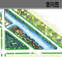 生态湿地公园平面图