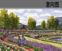 湿地公园手绘效果图 JPG