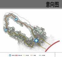 乡村规划设计交通分析图