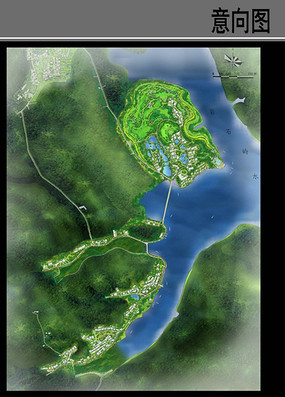 沿河村庄规划设计平面图