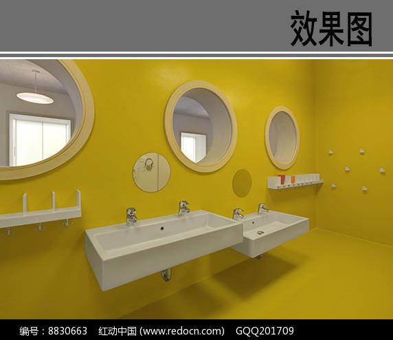 幼儿园厕所洗手台效果图图片