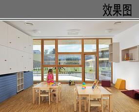 幼儿园活动教室透视效果