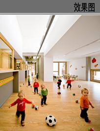 幼儿园活动空间室内设计 JPG