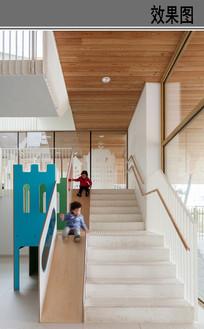 幼儿园楼梯室内设计效果图