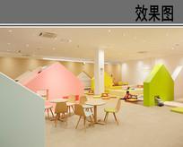 幼儿园室内空间设计效果图 JPG