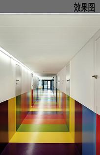 幼儿园走廊设计效果 JPG
