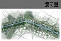 运河商贸展示带平面图