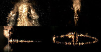震撼的火焰舞蹈视频