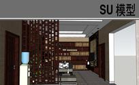 中式家装客厅模型