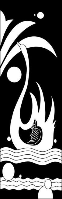 大鹅雕刻图案 CDR